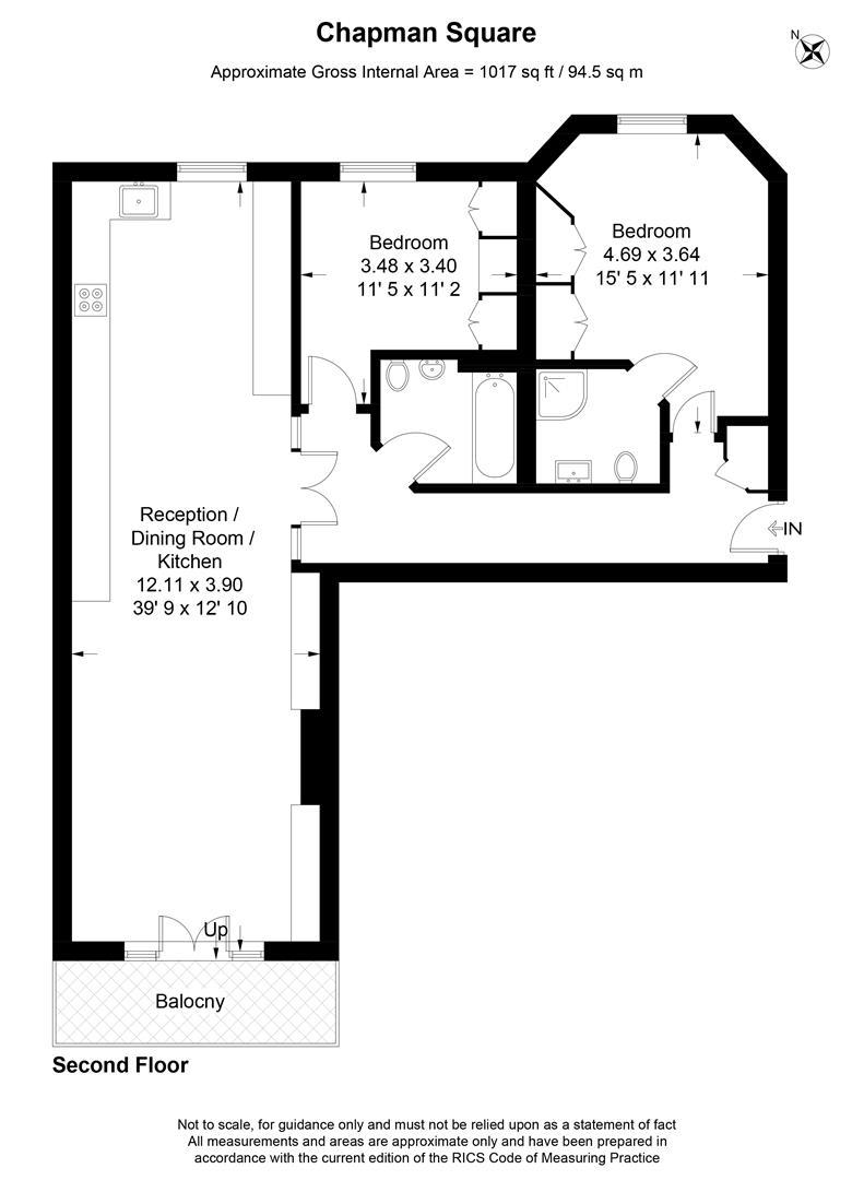 Floorplan for Chapman Square, Wimbledon